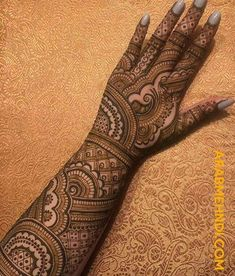 50 Most Beautiful Bridal Mehndi Design (Bridal Henna Design) that you can apply on your Beautiful Hands and Body during your Marriage.