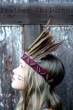Head dress by Feather Children: Not sure where I'd wear it but I want one!