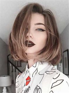 Best way to change your style is dying your hair to trending hair colors. It is wise to opt with a new hair color for a new year because everyone want to look. 2015 Hairstyles, Cute Hairstyles For Short Hair, Trendy Hairstyles, Straight Hairstyles, Short Hair Styles, Bob Styles, Beautiful Hairstyles, Haircut Short, Haircut Bob