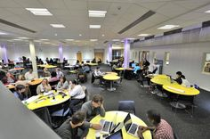The new Learning Commons space at the University of Northampton is a hub of social learning and social relaxing. Library Furniture, Croydon, Co Working, Library Design, Learning Spaces, The Ordinary, Layout Design, University, Students