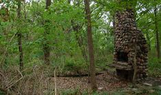 Canyon Trail @ Ledges State Park in Boone County, Ia. Find the ruins of the old Fowler Homestead. At .3miles from trail head there will be a path that continues to the left for about 300 feet. At the end you will find the remains of a cabin and stone chimney