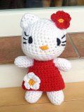 Háčkovaná Hello Kitty | Mimibazar.cz Crochet Toys, Crochet Baby, Hello Kitty Crochet, Hello Kitty Items, Knitted Animals, Fictional Characters, Baby Zoo, Minis, Knitting