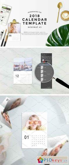 Polaroid Photo Calendar 2019 Template InDesign INDD Calendar