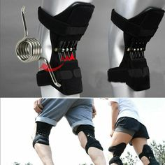Joint Support Knee Pads Breathable Non-Slip Power Lift Joint Support Knee Pads Powerful Rebound Spring Force Knee Booster pain removal relaxing Age: AdultMaterial: OK cloth and stainless steelModel Number: Elbow & Knee Pads