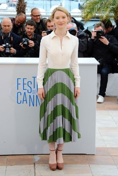 Cannes Best Dressed: Bérénice Bejo Keeps It Casual on Day 8 | Vanity Fair-Mia Wasikowska in Valentino