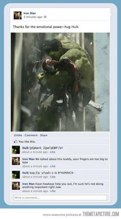 if the Avengers had Facebook
