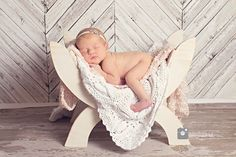 Custom Photography Prop / Newborn Bed / Curved Bench Small w Curved Legs