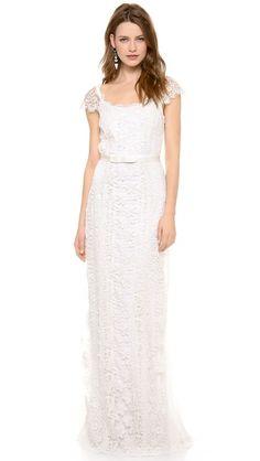Collette Dinnigan,Lace Panelled Gown $3,700.00 visit; shopbop.com/Collette Dinnigan  walking on sunshine:-)