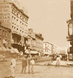 CHICAGO - RANDOLPH STREET - BEFORE THE GREAT FIRE - 1870