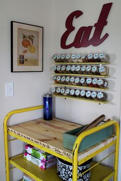 Confessions of a New / Old Home Owner: Industrial Butcher Block Cart