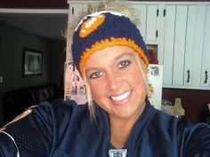 NFLThemed Womens Crocheted Headband Ear by jennymillerartistry, $10.99