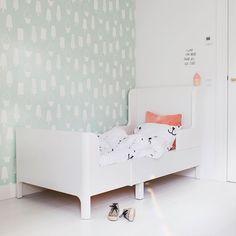 Het BUSUNGE meegroeibed thuis bij @irisdorine | IKEA IKEAnl IKEABijMijThuis kinderkamer slaapkamer kids grafisch babykamer