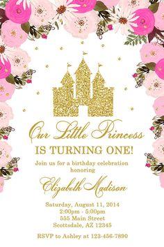 Princess Castle Birthday Party Invitation Castle Birthday