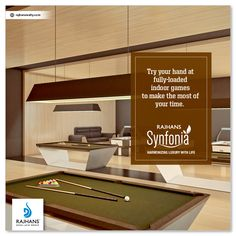 Try your hand at fully-loaded indoor games to make the most of your time. For more details: www.rajhansrealty.co.in #RajhansSynfonia #RajhansRealEstate #RajhansDesaiJainGroup #Surat