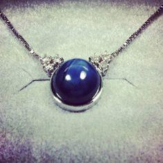 Star sapphire with diamond