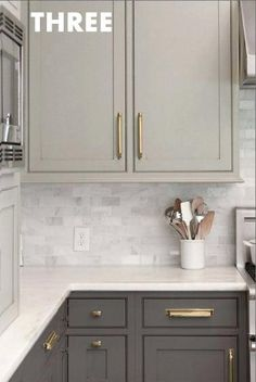 Discount cabinet hardware gold kitchen hardware gold kitchen cabinet pulls best brass cabinet hardware ideas on Espresso Kitchen Cabinets, Brass Kitchen, Kitchen Cabinet Hardware, Grey Cabinets, Kitchen Backsplash, Brass Hardware, Kitchen Grey, Cupboards, Backsplash Arabesque