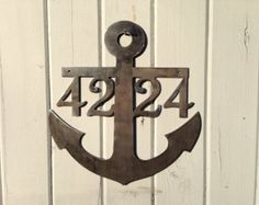 Anchor House Number / Wedding Sign / Family by GlamorousFindings