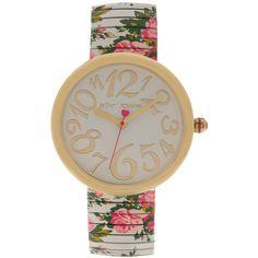 Betsey Johnson Floral Stretch Band Watch #VonMaur