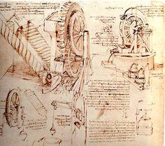 Water Lift by Leonardo da Vinci, 1480-1482