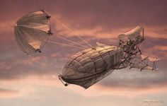 ArtStation - Steampunk Flying Ships (2006 Personal project), Eddie Bennun