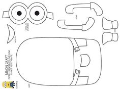 minion cut out template - Google Search
