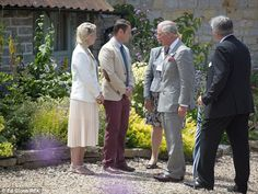 Nice to see you again! Prince Charles chats to Muchelney locals as he returns for a second...