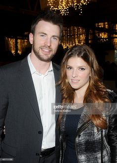 Actors Chris Evans and Anna Kendrick attend Hollywood Stands Up To Cancer Event with contributors American Cancer Society and Bristol Myers Squibb hosted by Jim Toth and Reese Witherspoon and the Entertainment Industry Foundation on Tuesday, January 28, 2014 in Culver City, California.
