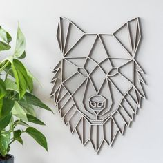 Buy the Geometric Wolf Wall Art - Poplar from our stunning Wall Décor collection at Red Candy, the home of quirky decor! Geometric Elephant, Geometric Wolf, Geometric Quilt, Elephant Wall Art, Clay Wall Art, 3d Wall Art, 3d Wall Decor, Art Decor, Quirky Decor