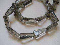 10 SMOKY QUARTZ Triangular Fringe Earring by YourNeedIsOurBeads, $2.25
