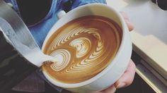 today tulip latte art