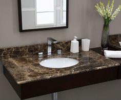 Newstar supply NMJ031 dark emperador marble vanity tops  granite countertop China factory