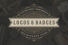 100 ornaments logos & monogram by Vasya Kobelev on @creativemarket