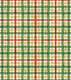 Susan Winget Christmas Fabric-Christmas Plaid