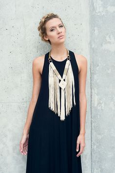 oropendola macrame statement necklace. women's fashion and style. accessories.