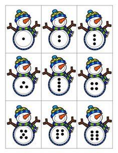 Don't Go Snow Math Center (Dot Card Subitizing) Kindergarten Math Skills Winter Game Math Center