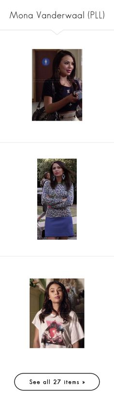 """""""Mona Vanderwaal (PLL)"""" by croonessii ❤ liked on Polyvore featuring tops, crop top, navy blue tops, navy crop top, embellished tops, embellished crop top, t-shirts, graphic tops, tiger t shirt and triangle t shirt"""