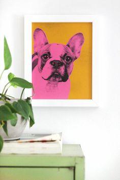 farbige wanddeko ideen im pop art stil