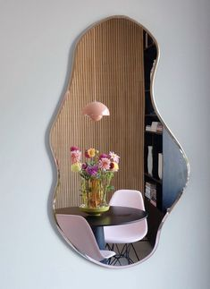 Room Ideas Bedroom, Bedroom Decor, Spiegel Design, Pastel Room, Cool Mirrors, Funky Mirrors, Beautiful Mirrors, Aesthetic Room Decor, Aesthetic Design