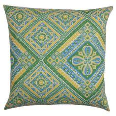 Summeria Indoor/Outdoor Pillow in Green