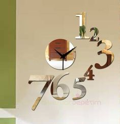 decorative Shatterproof   mirror wall clock by walldecal76 on Etsy, $29.00