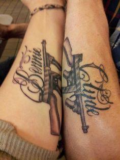 cd734f7d8 Image result for bonnie clyde tattoo Movie Tattoos, Body Art Tattoos,  Badass Tattoos,
