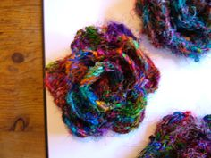 Crocheted flower from recycled sari silk - #MyFavouriteMakes