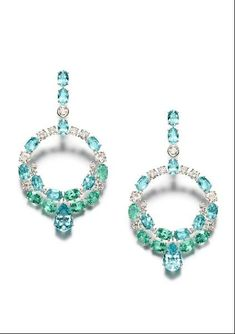 Piaget Mediterranean Garden Paraiba Tourmaline Earrings