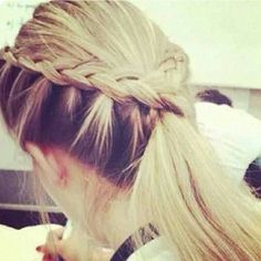 perfect for softball & great contrast if you're a blonde wanting a brown underside