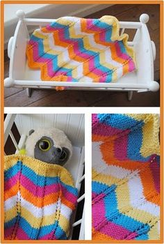 Knitted Doll Blanket Pattern Sure It S The Rainbow Effect That Has