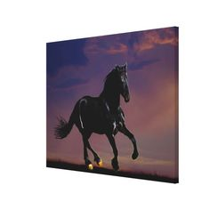 Horse galloping free canvas