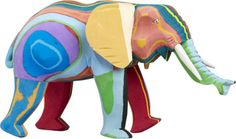 elephant sculpture made from recycled flip-flops  | CB2 $60