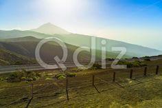 Qdiz Stock Images Teide Volcano Landscape on Tenerife,  #Canary #fog #haze #island #landmark #landscape #mountain #national #natural #nature #park #peak #rock #Spain #spring #summer #Teide #Tenerife #Travel #volcanic #volcano