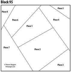Crazy Quilt Block 95 pattern