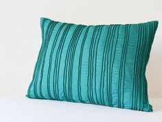 Teal Textured Cushion Cover , Teal Pillow Covers with Corded Texture , Teal Decorative Pillow , Peacock Blue Pillow Cover , Blue Cushion